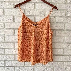NWT Forever 21 Cami Top Floral Orange Size Medium